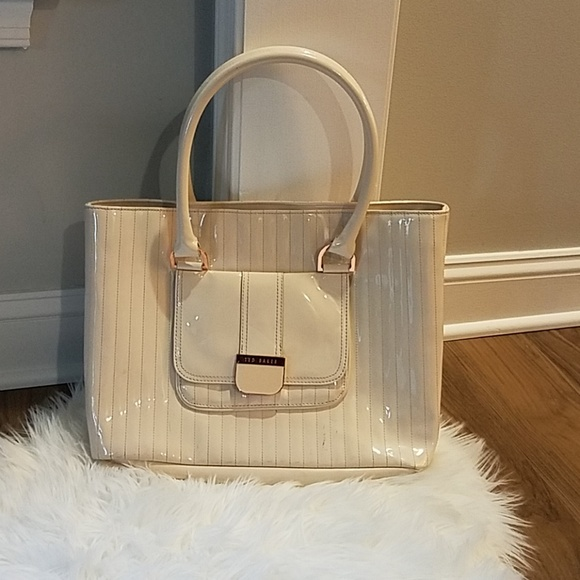 44eda993ff6 Ted Baker Bags | Patent Cream Handbag | Poshmark